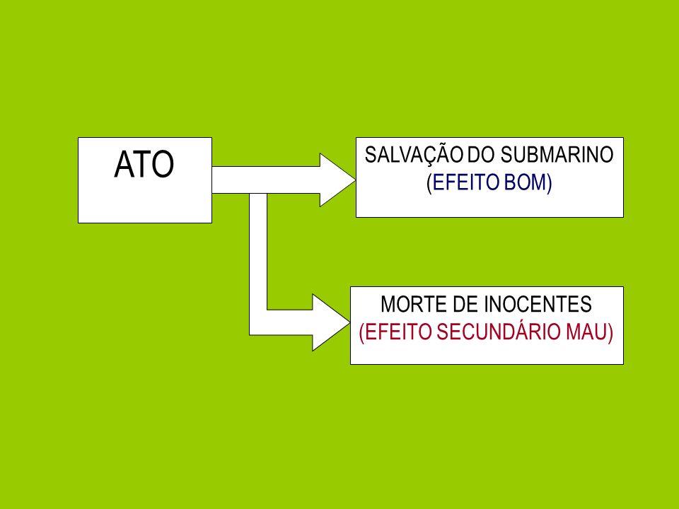 ATO SALVAÇÃO DO SUBMARINO (EFEITO BOM) MORTE DE INOCENTES (EFEITO SECUNDÁRIO MAU)