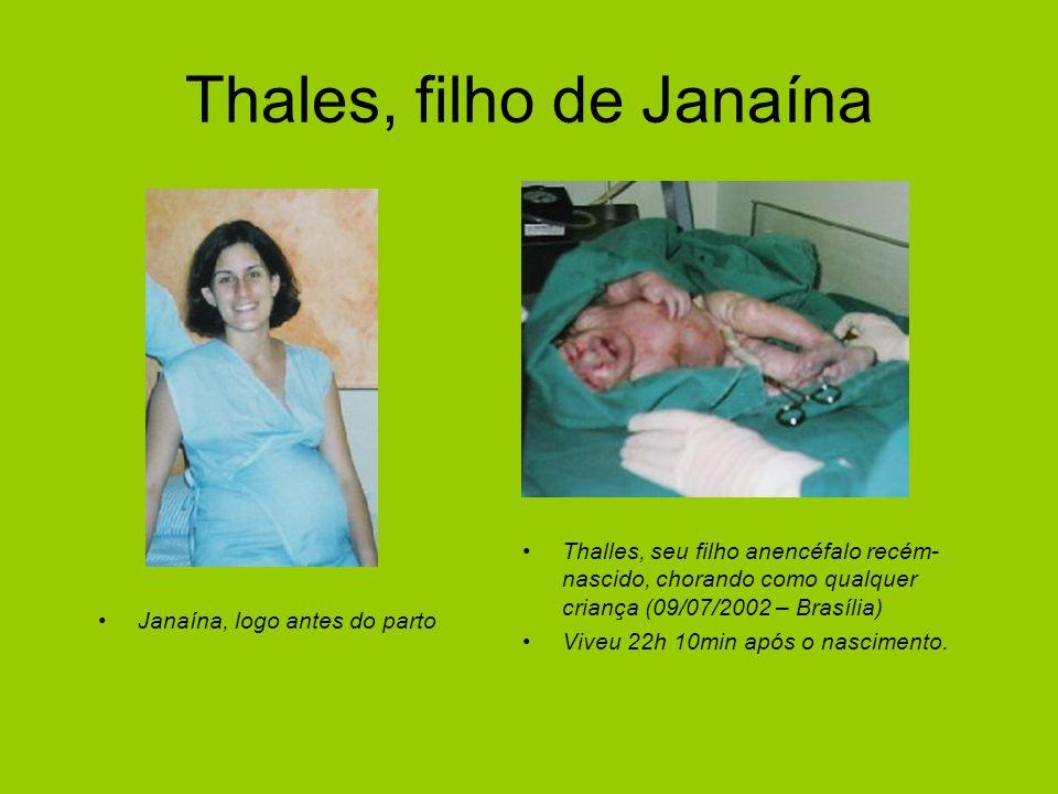 Thales, filho de Janaína Janaína, logo antes do parto Thalles, seu filho anencéfalo recém- nascido, chorando como qualquer criança (09/07/2002 – Brasí