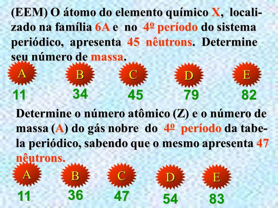 (Marck) Se a distribuição eletrônica do átomo R é: 1s 2 2s 2 2p 6 3s 2 3p 6 4s 2 3d 10 4p 3 ; então, R é IIIA pertence ao subnível IIIA. AAAA BBBB EEE