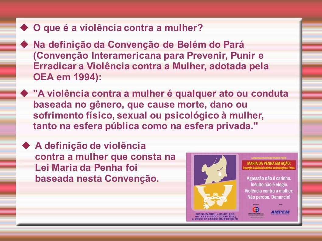 O que é a violência contra a mulher.