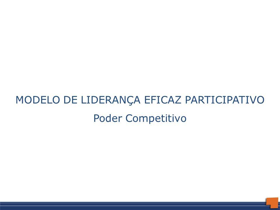 MODELO DE LIDERANÇA EFICAZ PARTICIPATIVO Poder Competitivo