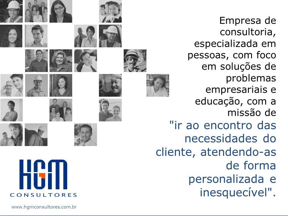 Empresa de consultoria, especializada em pessoas, com foco em soluções de problemas empresariais e educação, com a missão de