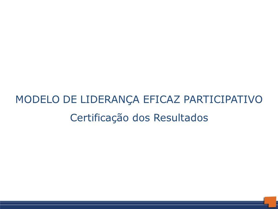 MODELO DE LIDERANÇA EFICAZ PARTICIPATIVO Certificação dos Resultados
