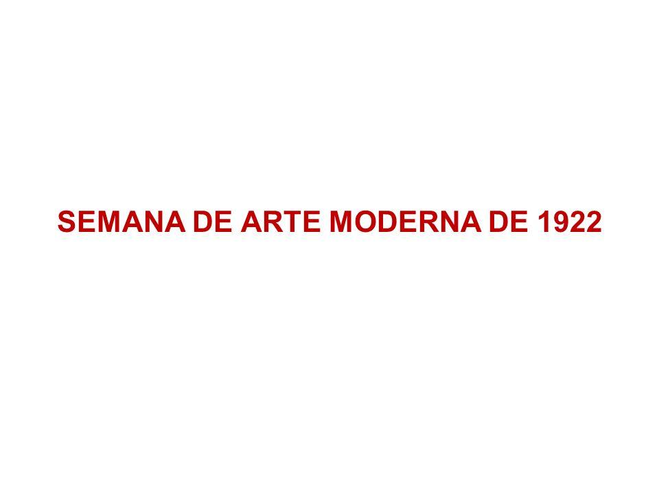 ANTECEDENTES DA SEMANA DE 22 1913: exposição de Lasar Segall 1914: exposição de Anita Malfatti 1917: segunda individual de Anita Malfatti e publicação de A Propósito da Exposição de Anita Malfatti (título posterior: Paranóia ou Mistificação?), de Monteiro Lobato