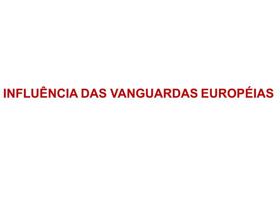 INFLUÊNCIA DAS VANGUARDAS EUROPÉIAS