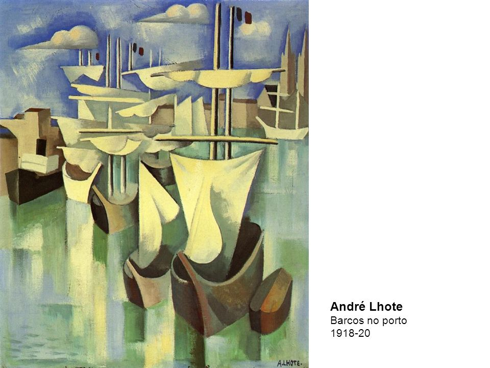 André Lhote Barcos no porto 1918-20