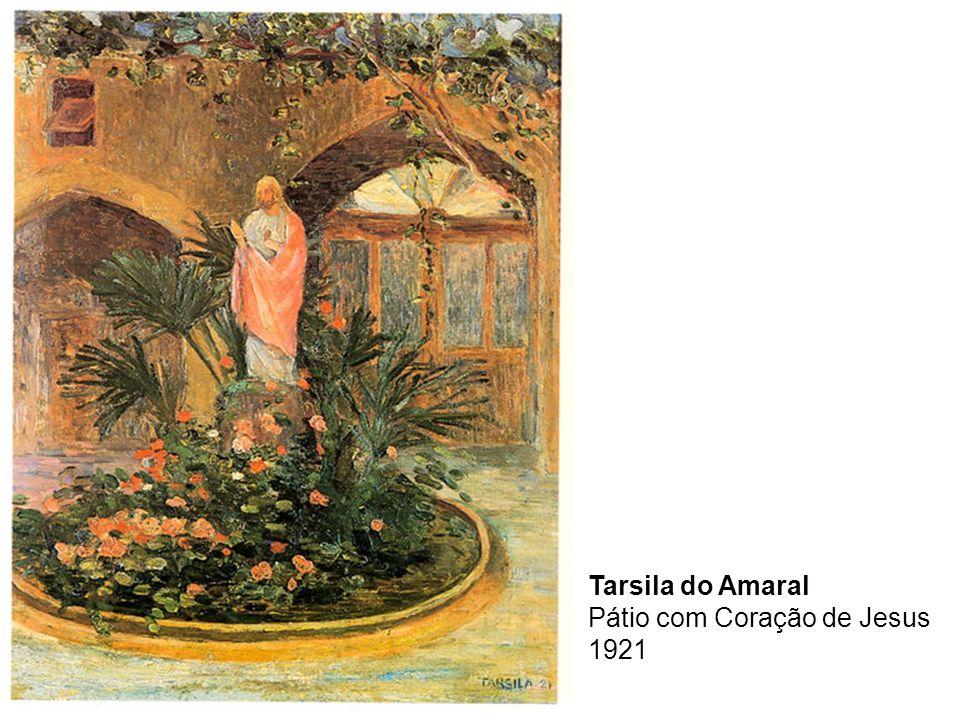 Tarsila do Amaral Pátio com Coração de Jesus 1921