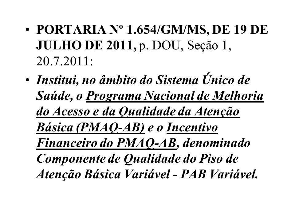 PORTARIA Nº 1.654/GM/MS, DE 19 DE JULHO DE 2011, p. DOU, Seção 1, 20.7.2011: Institui, no âmbito do Sistema Único de Saúde, o Programa Nacional de Mel