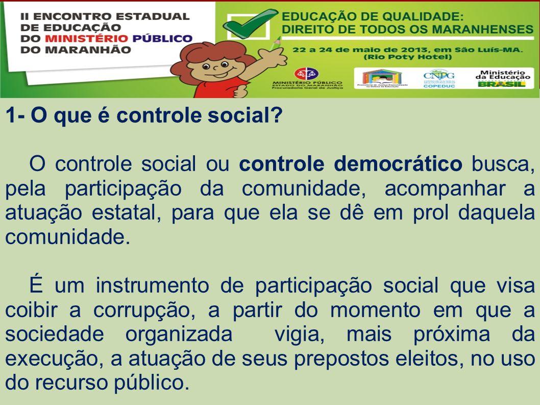 1- O que é controle social.