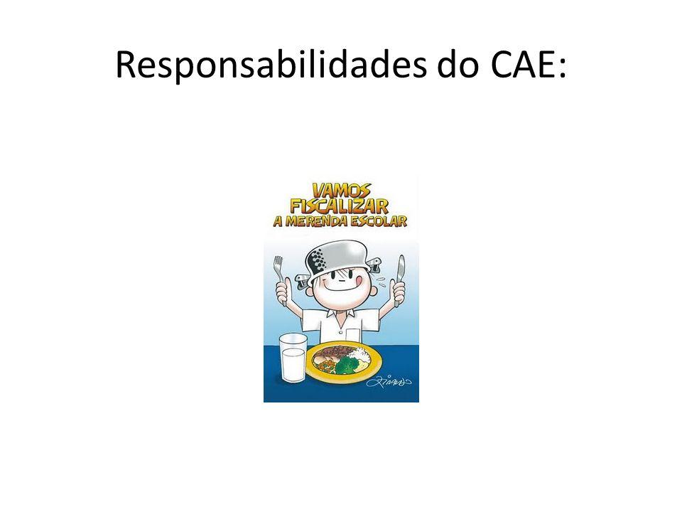 Responsabilidades do CAE:
