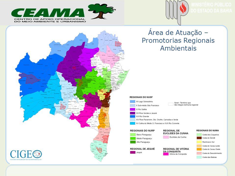 Área de Atuação – Promotorias Regionais Ambientais