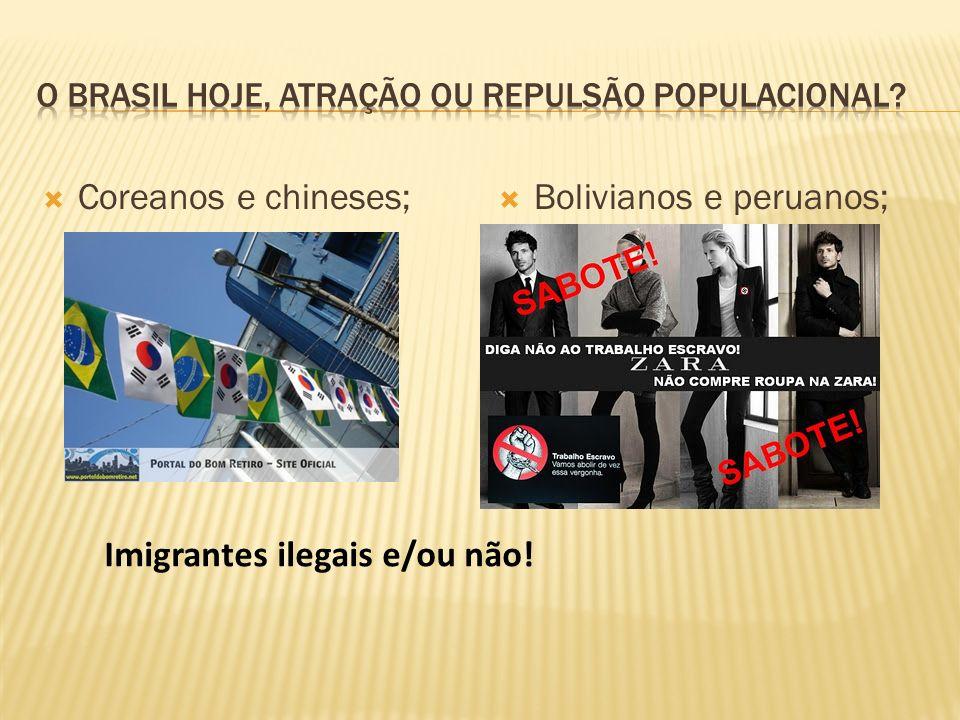 Coreanos e chineses; Bolivianos e peruanos; Imigrantes ilegais e/ou não!