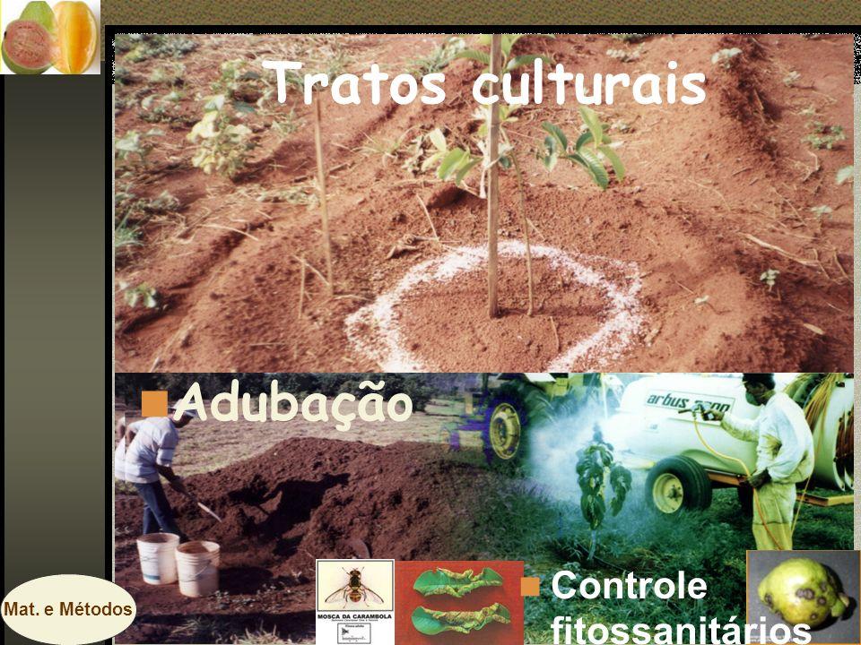 Tratos culturais Adubação Controle fitossanitários Mat. e Métodos