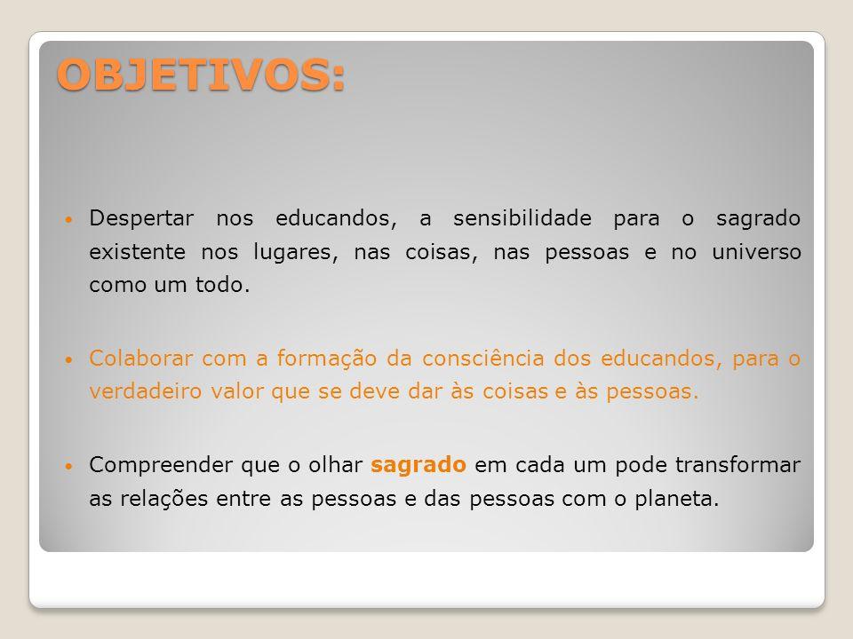 ATIVIDADES DESENVOLVIDAS: REFLEXÃO SOBRE O SAGRADO.