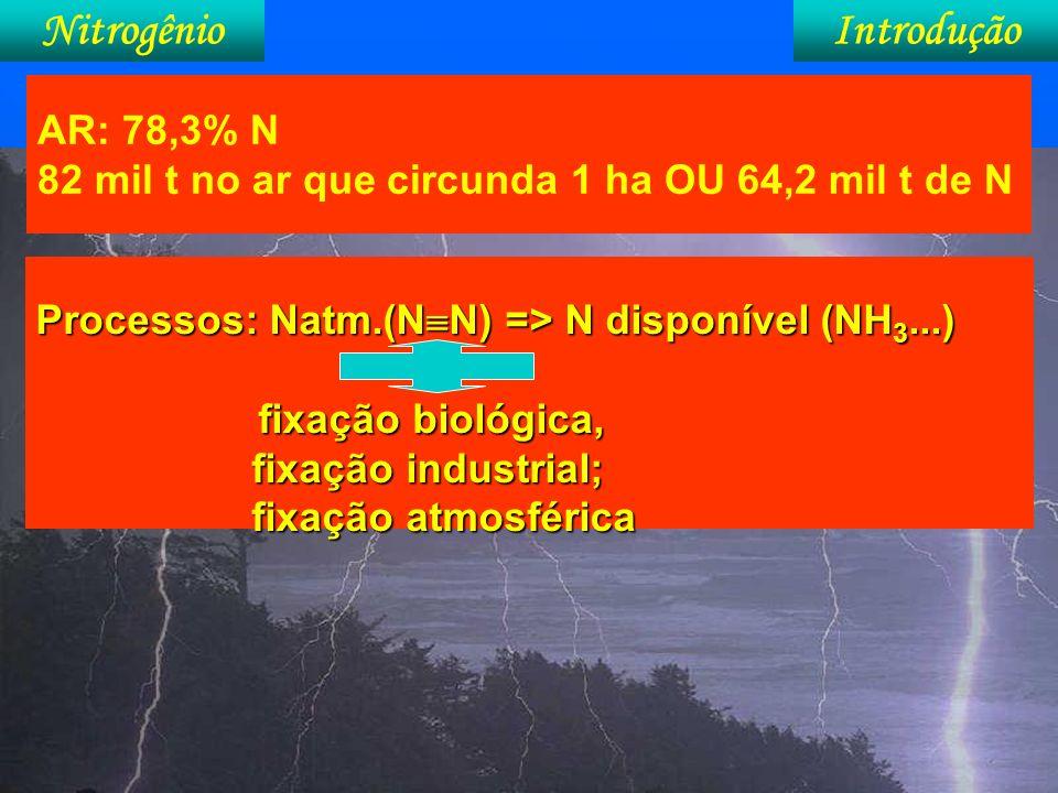 NitrogênioIntrodução No Brasil, estudos com FBN tiveram início em 1963, com a Dra.