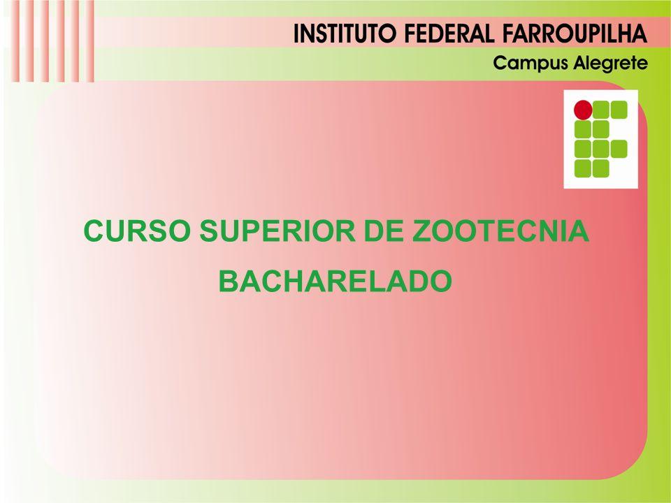 CURSO SUPERIOR DE ZOOTECNIA BACHARELADO