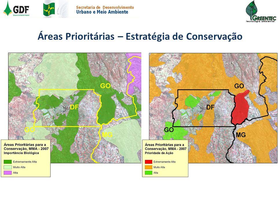 Áreas Prioritárias – Estratégia de Conservação