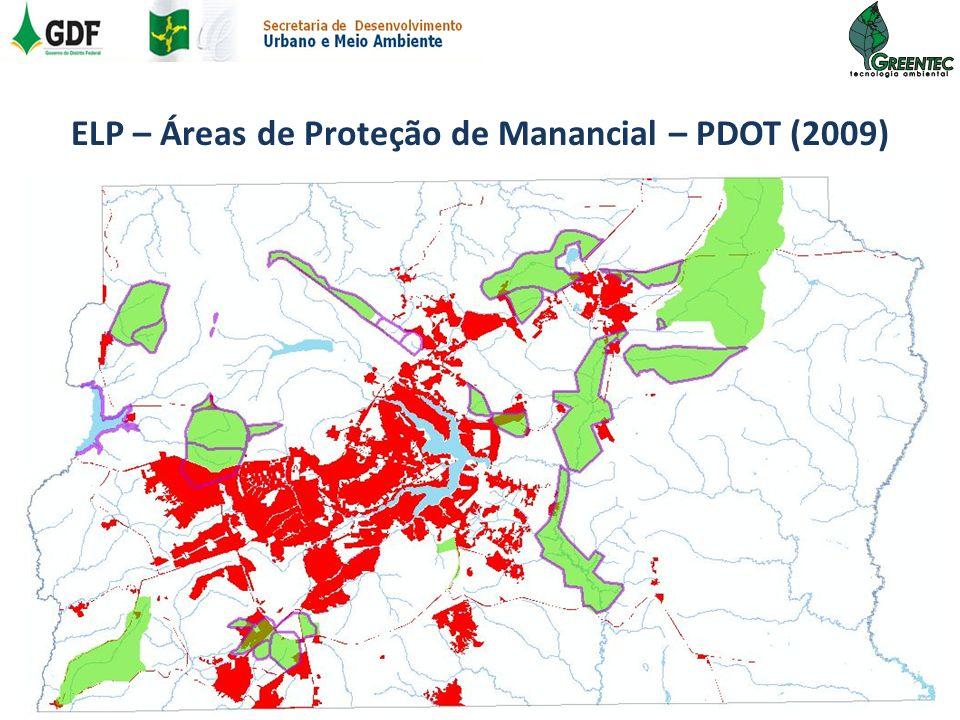 ELP – Áreas de Proteção de Manancial – PDOT (2009)