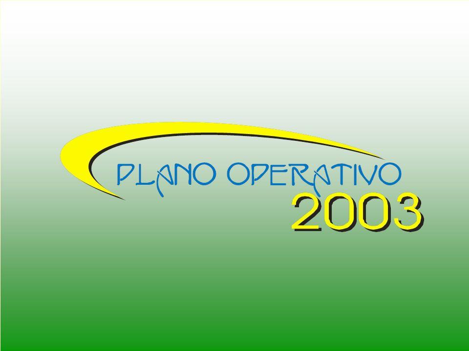 ABERTURA NOVA ESTRUTURA ORGANIZACIONAL DA SEPLAN ATIVIDADES DE PLANEJAMENTO CRONOGRAMA DE ATIVIDADES PANORAMA DA CAPACIDADE DE INVESTIMENTO DO ESTADO PLANO OPERATIVO 2003