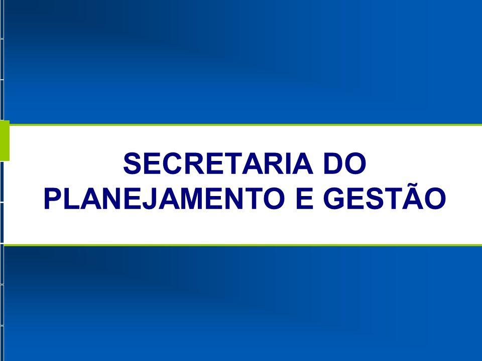 Identidade Organizacional da SEPLAG.01.02.03 MISSÃO Promover o planejamento das ações de governo e otimizar a gestão estadual, visando a melhoria da qualidade dos serviços ofertados ao cidadão.