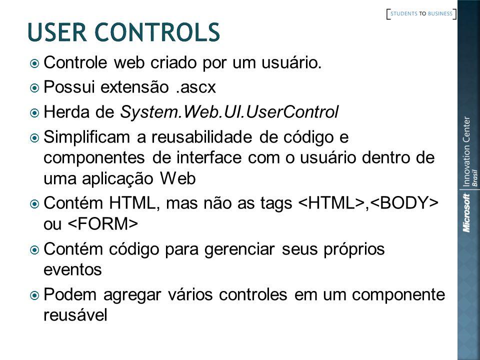 Controle web criado por um usuário.