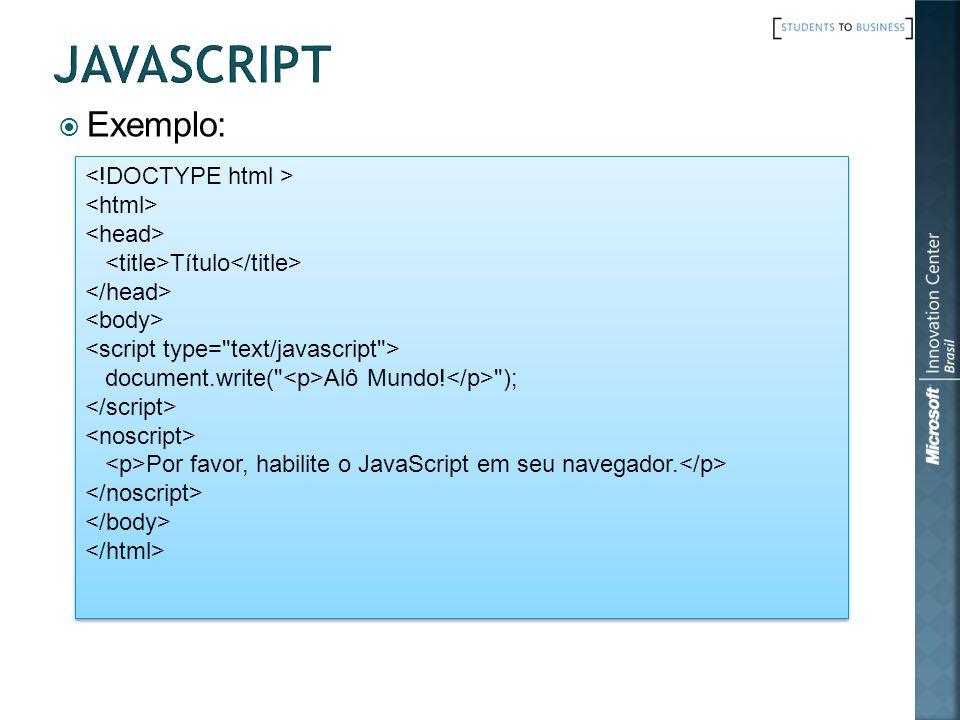 Exemplo: Título document.write(