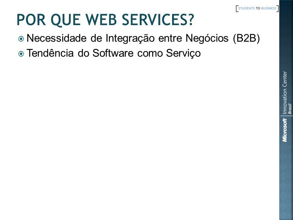 DISCO (Discovery of WS) & UDDI (Universal Description, Discovery and Integration) Engine de Busca por Web Services Páginas Amarelas http://uddi.xml.org/