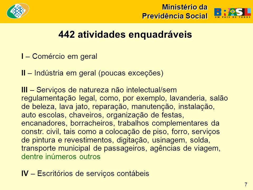 Ministério da Previdência Social Expansão + Recuperação da Rede de Agências PEX: 720 Obras: 318 R$ 911 milhões PEX: 104 Obras: 31 R$ 103,7 milhões PEX: 339 Obras: 90 R$ 357,2 milhões PEX: 29 Obras: 55 R$ 104 milhões PEX: 172 Obras: 112 R$ 256,8 milhões PEX: 76 Obras: 30 R$ 89,1 milhões Total do Brasil 18