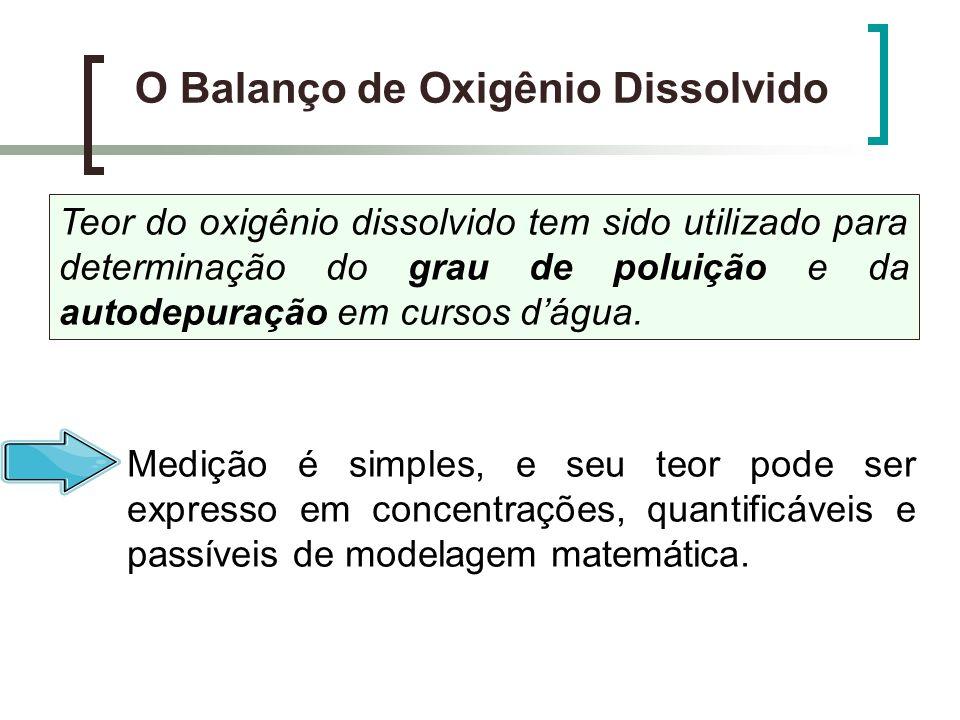 b) Cálculo da DBO 5 e da demanda última no rio após a mistura com o despejo DBO Mistura DBO última da mistura Onde: DBO 5 = Concentração de DBO 5, logo após a mistura (mg/l); L 0 = Demanda última de oxigênio, logo após a mistura; DBO e = Concentração de DBO 5, do esgoto (mg/l); K T = cte para transformação da DBO 5 a DBO última