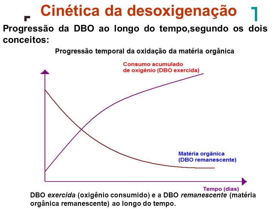Esgotos Curso dágua Tempo (d) ou distância (km) OD (mg/l) DcDc CcCc CoCo tctc toto CsCs CoCo DoDo Pontos característicos da curva de depleção de OD