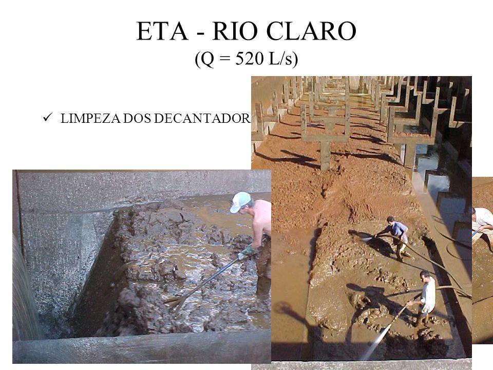 ETA - RIO CLARO (Q = 520 L/s) LIMPEZA DOS DECANTADORES