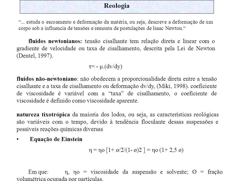 Reologia... estuda o escoamento e deformação da matéria, ou seja, descreve a deformação de um corpo sob a influencia de tensões e remonta de postulaçõ