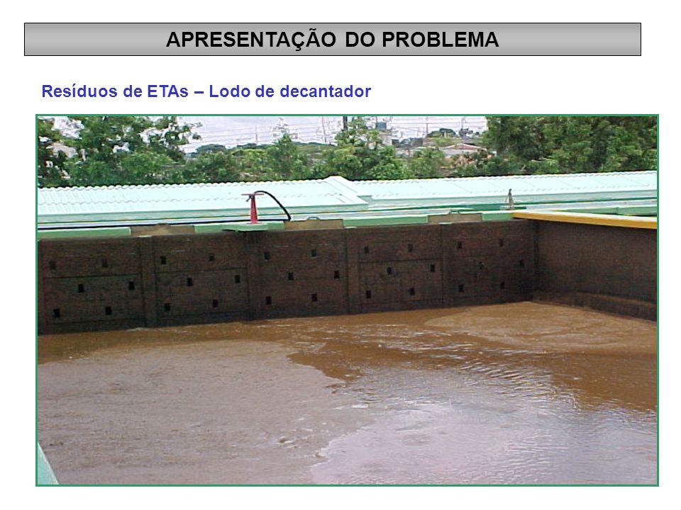 Resíduos de ETAs – Lodo de decantador APRESENTAÇÃO DO PROBLEMA