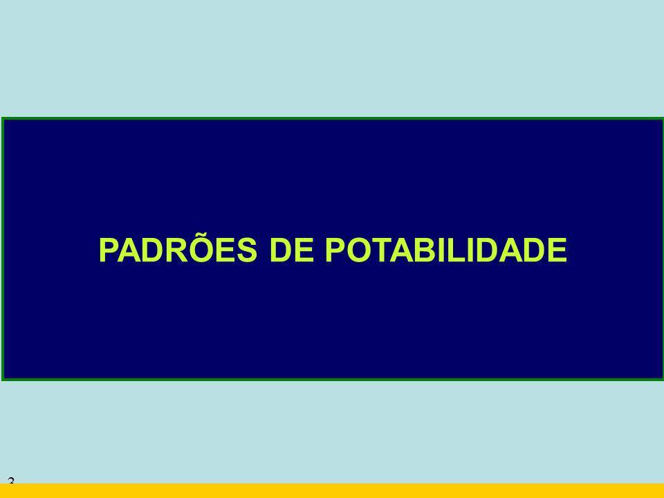 3 PADRÕES DE POTABILIDADE