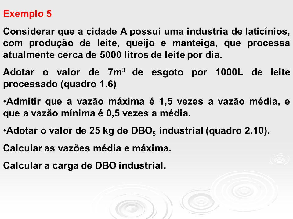 Exemplo 5 Considerar que a cidade A possui uma industria de laticínios, com produção de leite, queijo e manteiga, que processa atualmente cerca de 500