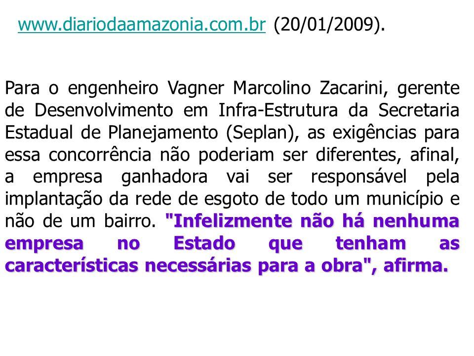 www.diariodaamazonia.com.brwww.diariodaamazonia.com.br (20/01/2009).