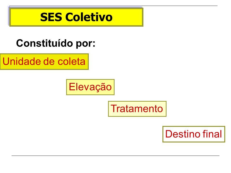 SES Coletivo Constituído por: Unidade de coleta Elevação Tratamento Destino final