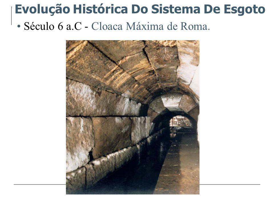 Século 5 a.C – Instalados condutos de barros para descarregar as águas servidas das habitações.