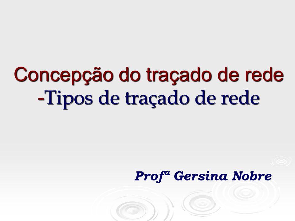 Concepção do traçado de rede - Tipos de traçado de rede Profª Gersina Nobre