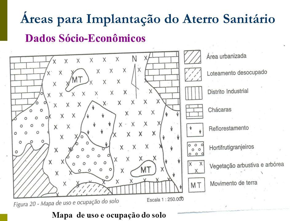 Dados Sócio-Econômicos Mapa de uso e ocupação do solo