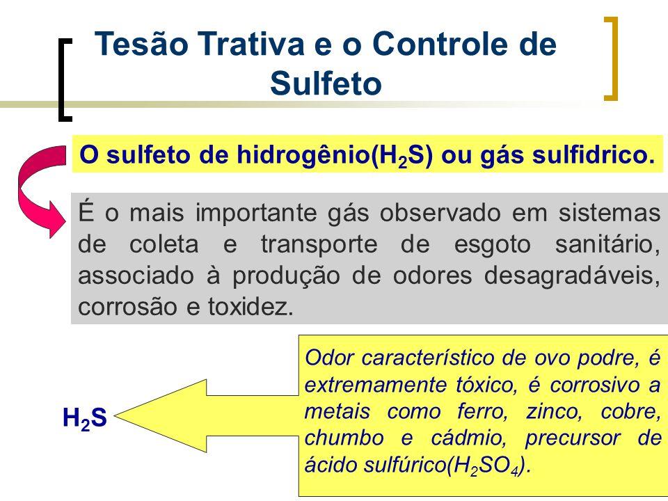 Tesão Trativa e o Controle de Sulfeto O sulfeto de hidrogênio(H 2 S) ou gás sulfidrico. É o mais importante gás observado em sistemas de coleta e tran