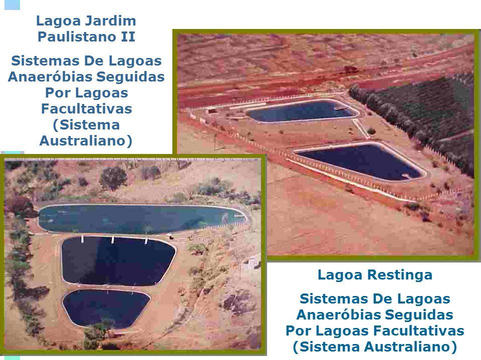 Lagoa Jardim Paulistano II Sistemas De Lagoas Anaeróbias Seguidas Por Lagoas Facultativas (Sistema Australiano) Lagoa Restinga Sistemas De Lagoas Anaeróbias Seguidas Por Lagoas Facultativas (Sistema Australiano)