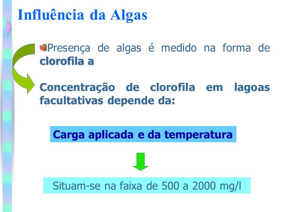 Lagoas facultativa – Descrição do Processo Em termos de sólidos em suspensão secos, a concentração é usualmente inferior a 200 mg/L.