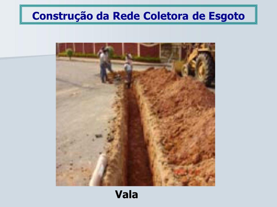 Construção da Rede Coletora de Esgoto Vala
