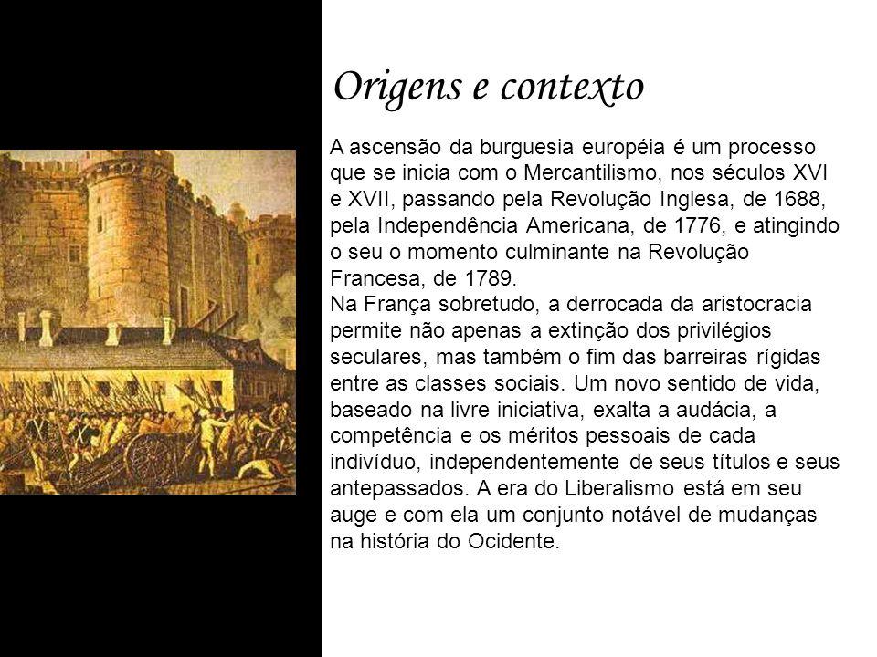 Origens e contexto A ascensão da burguesia européia é um processo que se inicia com o Mercantilismo, nos séculos XVI e XVII, passando pela Revolução I