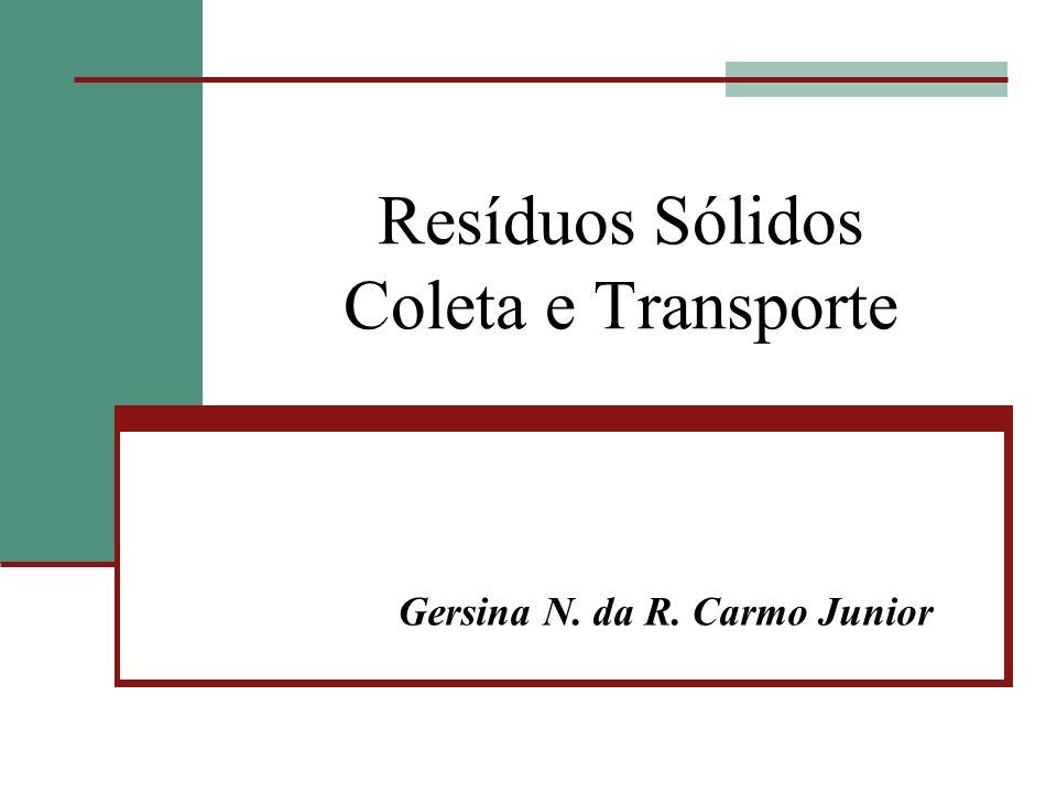 Resíduos Sólidos Coleta e Transporte Gersina N. da R. Carmo Junior