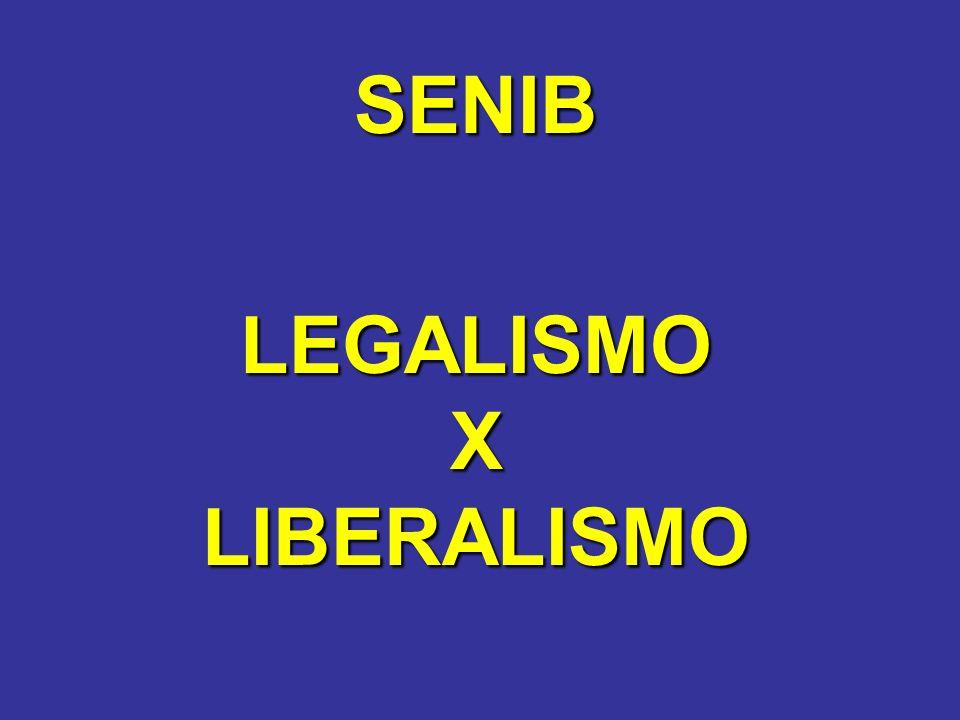 SENIB LEGALISMO X LIBERALISMO