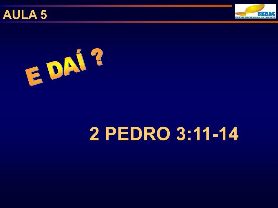 AULA 5 2 PEDRO 3:11-14
