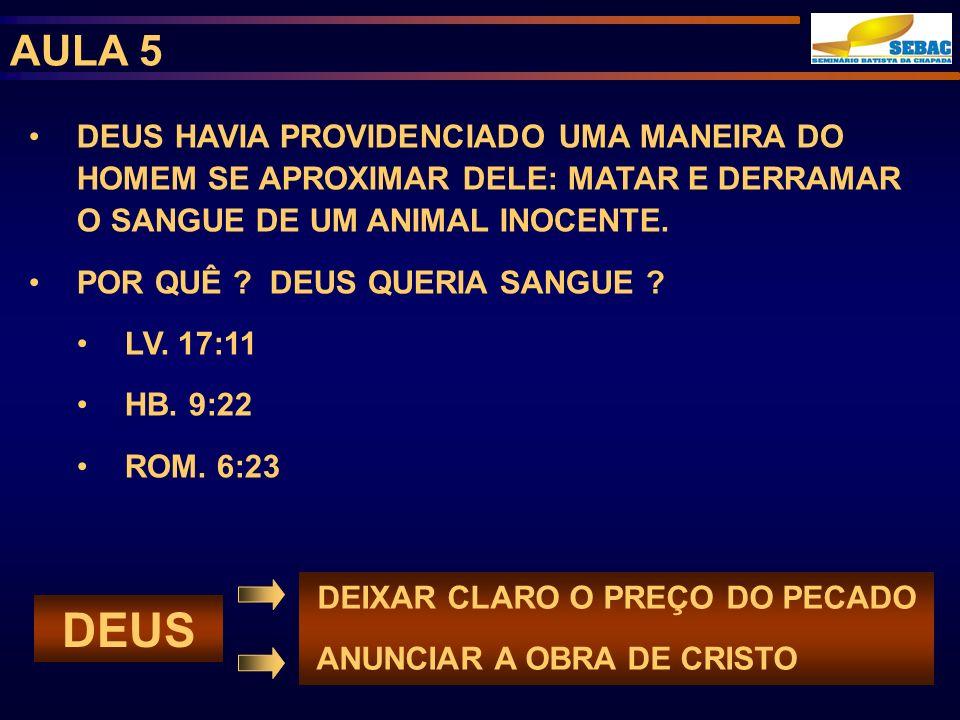 AULA 5 CAIM CRIA NA EXISTÊNCIA DE DEUS ERA AGRICULTOR OFERECEU SACRIFÍCIOS A DEUS FEZ O MELHOR QUE PODIA AGIU À SUA MANEIRA FOI REJEITADO ABEL CRIA NA EXISTÊNCIA DE DEUS ERA PASTOR OFERECEU SACRIFÍCIOS A DEUS FEZ O QUE DEUS MANDOU AGIU PELA FÉ (HB.11:4) FOI ACEITO