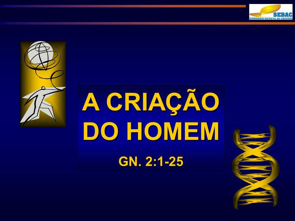 A CRIAÇÃO DO HOMEM GN. 2:1-25